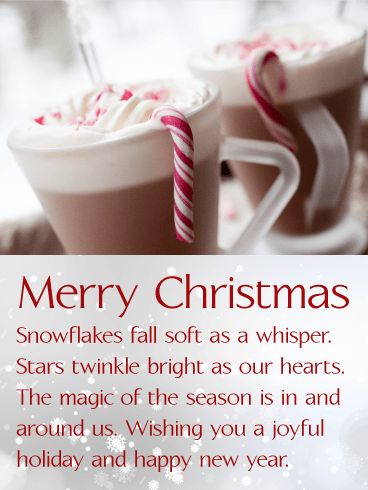 Yummy Hot Chocolate Merry Christmas Card