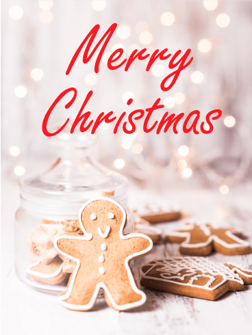 Sweet Gingerbread Merry Christmas Card