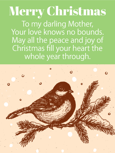 To My Darling Mother - Christmas Wishes Card