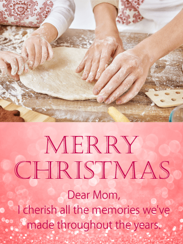 Memories of Mom - Sweet Merry Christmas Card