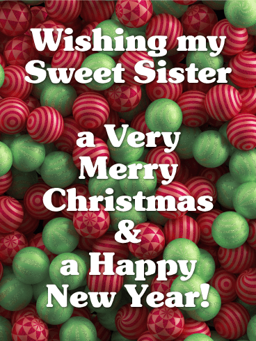 for my sweet sister merry christmas card
