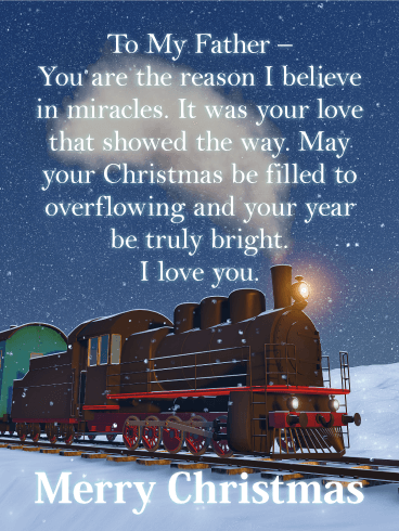 Shine Some Love! Merry Christmas Wishes Card for Father