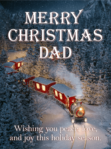 Spread Some Cheer! Merry Christmas Card for Father