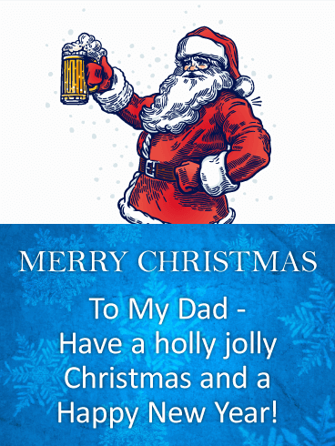 Retro & Hip Christmas Card for Father