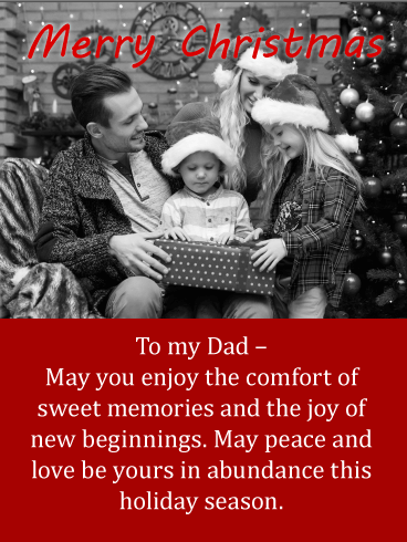 Sweet Memories - Merry Christmas Wishes Card for Father