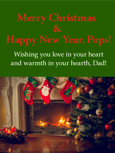 Wishing You Love! Merry Christmas Card for Father