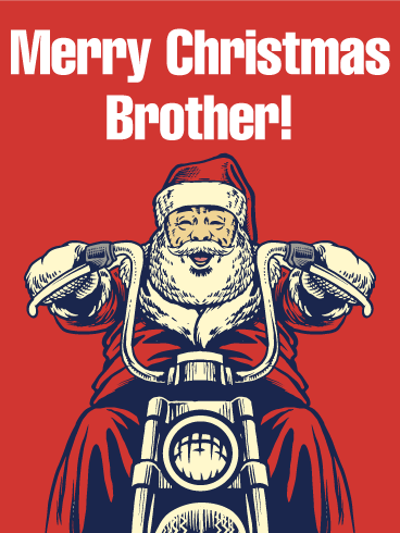 Let's Ride! Merry Christmas Card for Brother