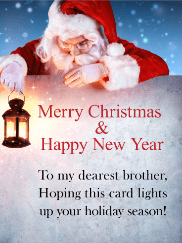 to my dearest brother merry christmas card