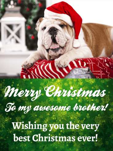 To My Awesome Brother   Merry Christmas Card