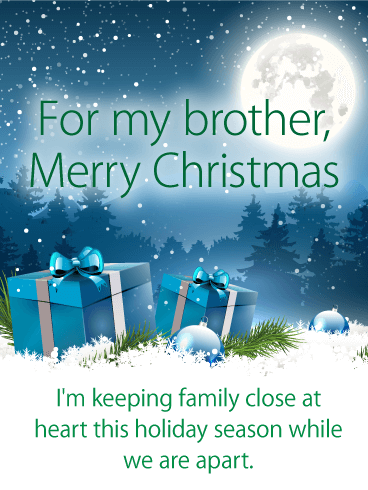 Thoughtful Merry Christmas Card for Brother