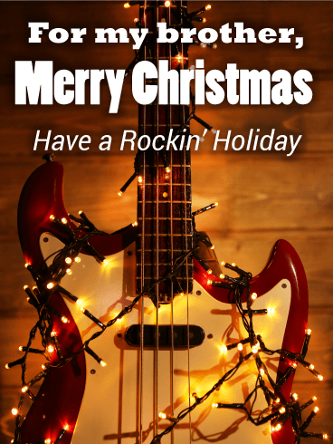 Rockin' Christmas Card for Brother