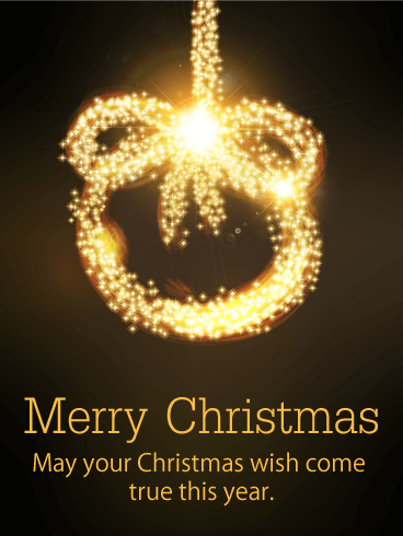 Golden Ring Merry Christmas Card