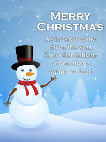 Thinking of You Warms my Heart! Merry Christmas Card