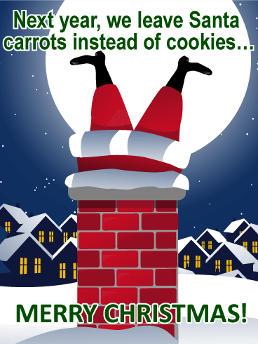 Too Many Cookies!? Funny Merry Christmas Card