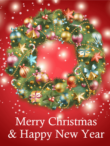 Gorgeous Christmas Wreath Card