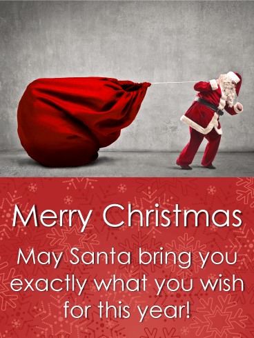 Exactly What You Wish! Funny Merry Christmas Card