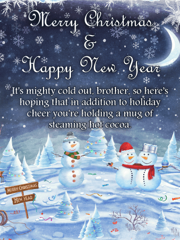 Heart-Warming Merry Christmas Card for Brother