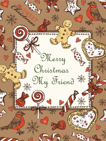 Christmas Treats Card for Friends