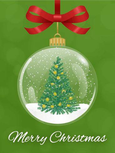 Christmas Tree Snowball Card