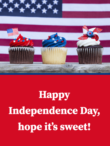 Sweet Independence- Happy 4th of July card