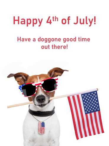 Doggone Good Time- Happy 4th of July card