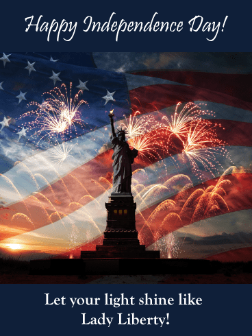 Fireworks for Liberty- Happy Independence Day card