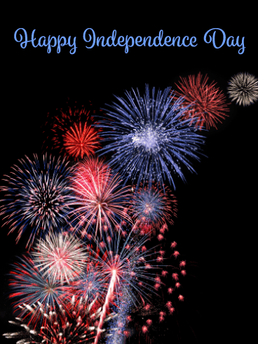 Simple Fireworks- Happy Independence Day card