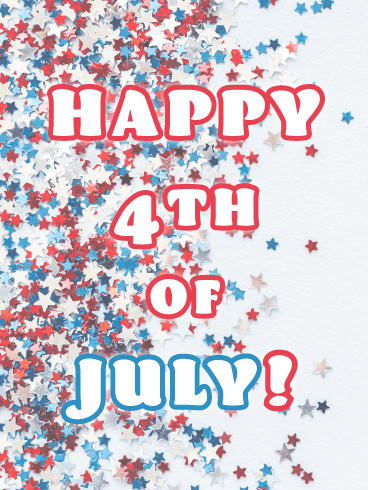 Star Confetti- Happy 4th of July card
