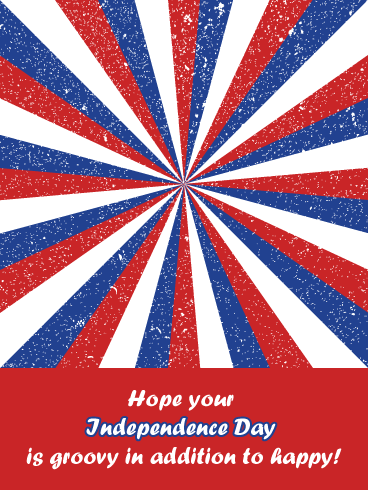 Groovy- Happy Independence Day card