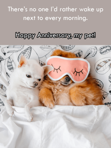 Wake Up to You – Happy Anniversary Card