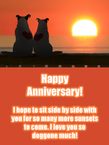 Sunset Chasers – Happy Anniversary Card