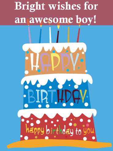 Towering Birthday Cake – Birthday Card for Boys
