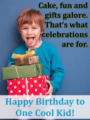 Stack of Presents – Birthday Card for Boys