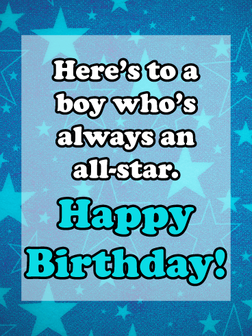 All-star Celebration – Birthday Card for Boys