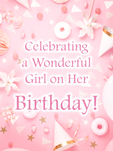 Pink Party – Birthday Card for Girls