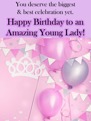 Party Time – Birthday Card for Girls