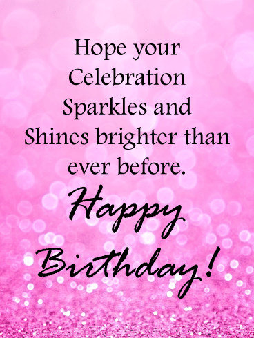 Pink Glitter Wishes – Birthday Card for Girls