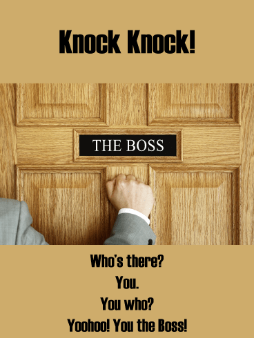 You're the Boss – Funny Boss's Day Card