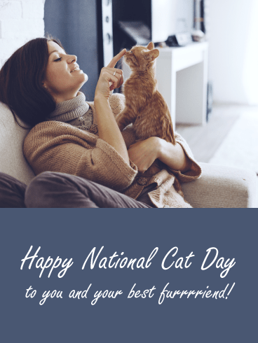 Best Furrriends – Happy National Cat Day Card