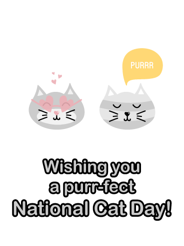 Purr-fect Day – National Cat Day Card