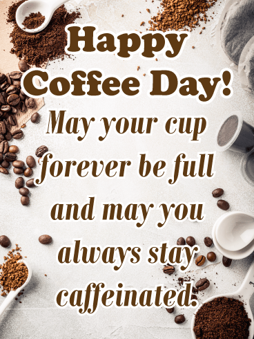 Coffee spoons - National Coffee Day card