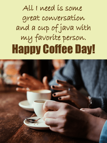 Coffee date - National Coffee Day card