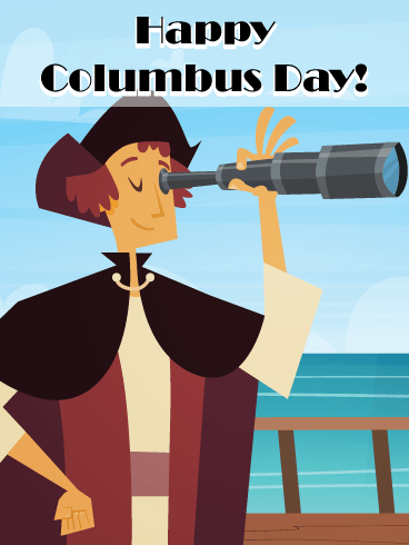 The Great Discovery – Columbus Day Card