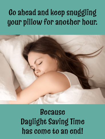 Snuggle In – Daylight Saving Ends Card