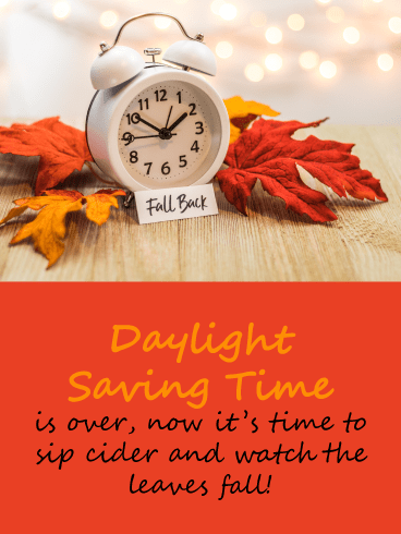 Fall O'Clock – Daylight Saving Ends Card