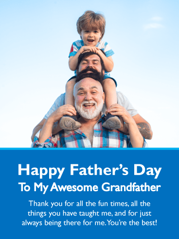 You're the Best! Happy Father's Day Card for Grandfather