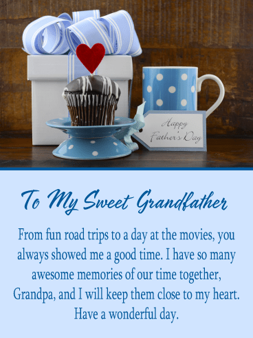Sweet Cupcake – Happy Father's Day Card for Grandfather