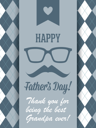 Artistic Design – Happy Father's Day Card for Grandfather