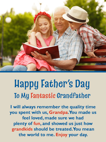 You're Fantastic! Happy Father's Day Card for Grandfather