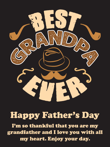 Thankful for You! Happy Father's Day Card for Grandfather